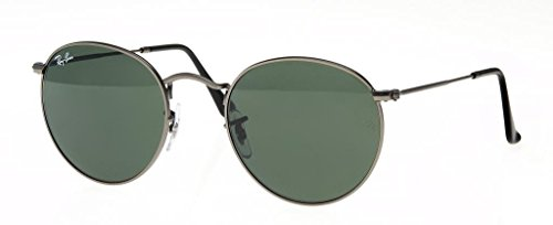 Ray Ban RB3447 029 50 Matte Gunmetal/Green Round Sunglasses Bundle-2 - Rb3447 029