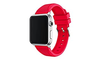 Apple Watch Band, Enow Soft Silicone Replacement Sports Band for 42mm Apple Watch 2015 & 2016 All Models, Red
