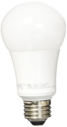 TCP 60W Equivalent, LED A Lamp Light Bulb, Non-dimmable, Soft White