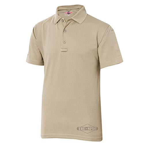 Buffalo Short Sleeve Polo Shirt - TRU-SPEC Men's 24-7 Series Short Sleeve Polo Shirt, Silver Tan, Large