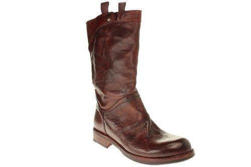 KBR Shoes M106 VITELLI NATURALE - Dama botas botines vaqueros botas de motociclista - Gris, 41 EUR: Amazon.es: Zapatos y complementos