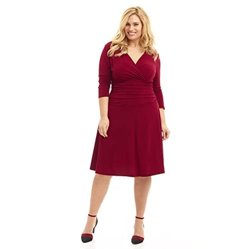 outlet Rekucci Curvy Fit Plus Size Women\'s Slimming 3/4 Sleeve Tummy ...