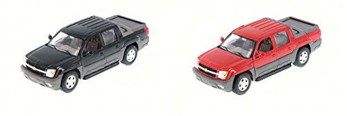 2002 Chevy Avalanche Pick Up Truck, SET OF 2 - Welly 22094 - 1/24 Scale Diecast Model Toy Cars