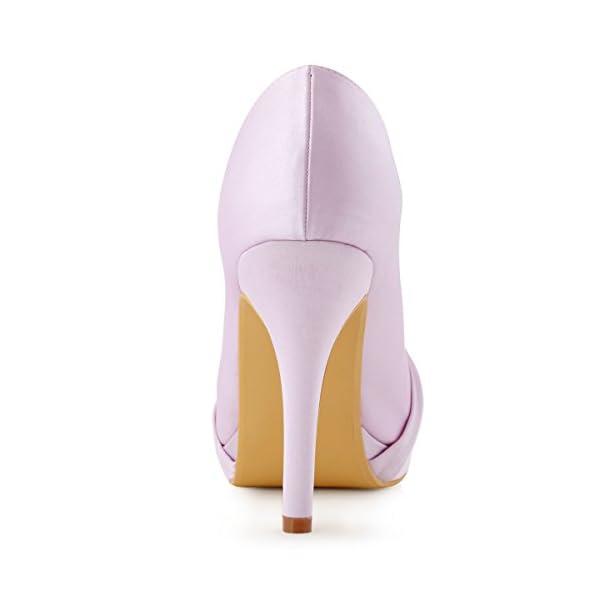 Elegantpark - Zapato de fiesta malva con plataforma