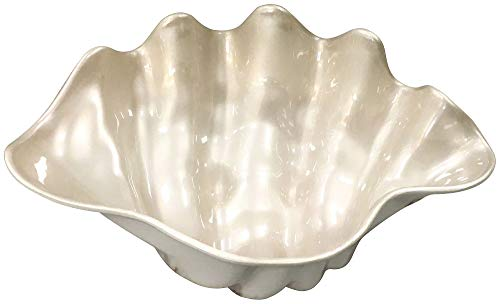 (Coastal Home Embossed Shells Clam Shell Bowl One Size)
