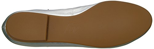 The Fix Women's Singh Elastic Strap Lace-up Ankle Ballet Flat Silver/Metallic best sale clearance looking for cheap sale latest collections brand new unisex for sale m233LeIb3