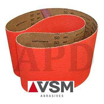 25-Pack VSM Ceramic High Performance Cloth Belt XK870X 2 Inch X 82 Inch 50 Grit X-Weight Backing Made in Germany