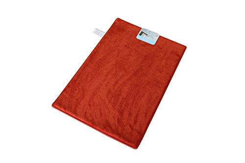 Garden Home Luxury Memory Foam Bath Rug (16x22, Blood Orange) (Memory Foam Orange Mat Bath)