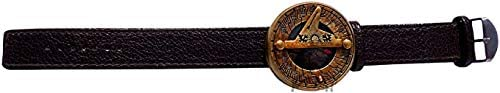 MAH Wrist Watch Sundial Compass with Case. C-3117
