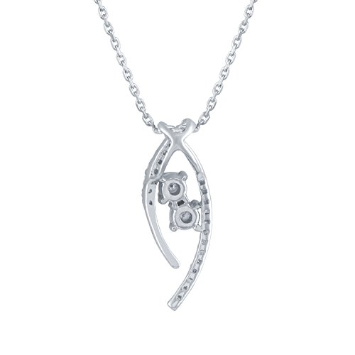 Giantti 14 carats Diamant Pendentif Femme Collier (0.177 CT, VS/Si-clarity, Gh-colour)