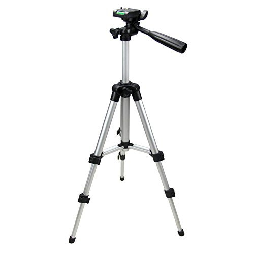 Rewy Portable 105cm Long 4 Section Adjustable 3 Way Pan And Tilt Tripod For DSLR | Mobile | Gopro Action Camera | Travel Purpose - Assorted Colour
