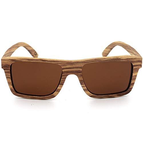 Marco Los Moda sol Polarizadas Protección La de Hombres Brown de Los Gafas Color de Amarillo del Madera Vidrios Mano Gafas de bambú Hecha a de Ultravioleta Deportes Los de wYRqvdR