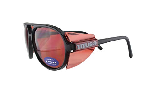 Glasses Vermillion Lens - TITUS All-Purpose Safety Glasses with Protective Side Shield (Vermillion)