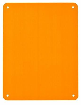 "Brady 13637 Sign Blanks, Aluminum, 10.25"" x 14.25"", Orange"