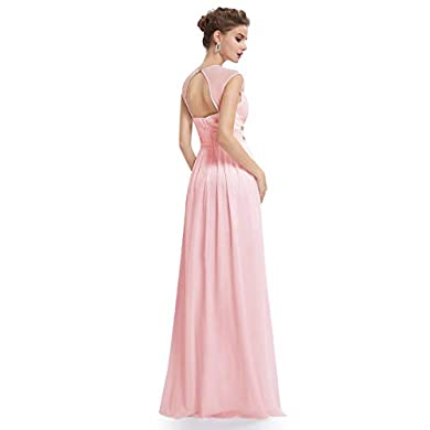 Vestido fiesta rosa palo