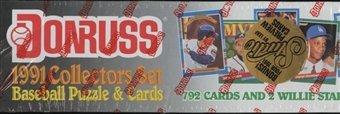 1991 Donruss Factory Sealed Complete Baseball Set (Roger Clemens) (Barry Bonds) (Roberto Alomar) (Cal Ripken) (Ryne Sandberg) (George Brett) (Edgar Martines) (Will Clark) (Rafael Palmeiro) (Ken Griffey Jr.) Robin Yount) (Wade Boggs) (Ozzie Smith)