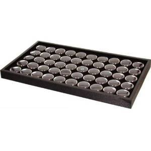 Belly Display Jewelry (50 Jar Body Jewelry Display Tray Black Tongue Navel Lip by Monster Point)