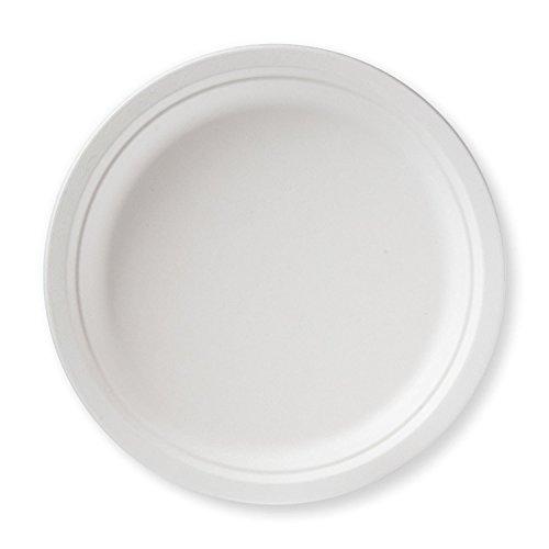 (Perfectware Sugarcane Plates Round- 500 Sugarcane Plates Round ( Case of 500ct), 0.2