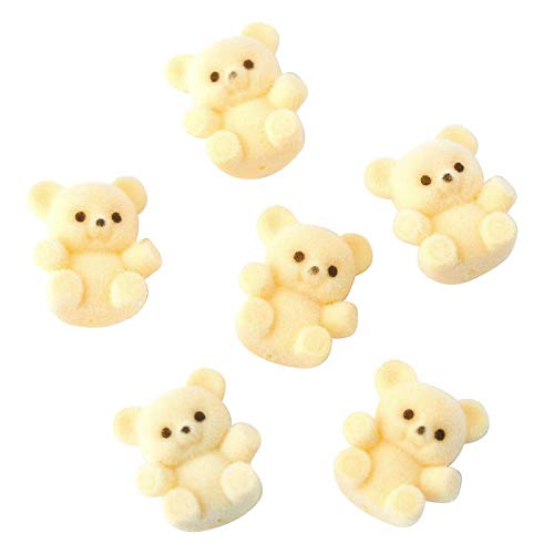 Factory Direct Craft Package of 24 Sitting Flocked Yellow Miniature Teddy Bears | Tiny Bears for Favors, Crafts and More