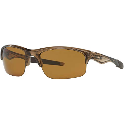 Oakley Men's OO9164 Bottle Rocket Rectangular Sunglasses, Brown Smoke/Bronze Polarized, 62 mm from Oakley