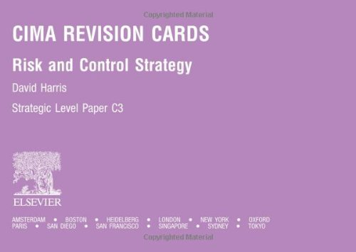 CIMA Revision Cards: Risk and Control Strategy