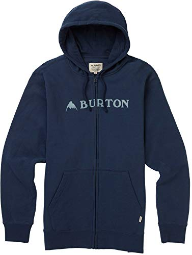 Burton Men's Horizontal Mountain Full-Zip Hoodie, Mood Indigo, Medium