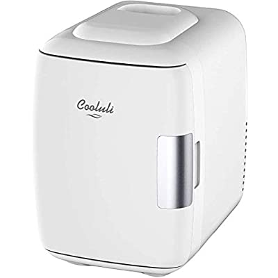 Cooluli Mini Fridge Electric Cooler and Warmer (4 Liter / 6 Can): AC/DC Portable Thermoelectric System w/ Exclusive On…
