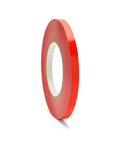 Poly Bag Sealer Tape, Red, 3/8 Inch x 180 Yards, 6 Rolls