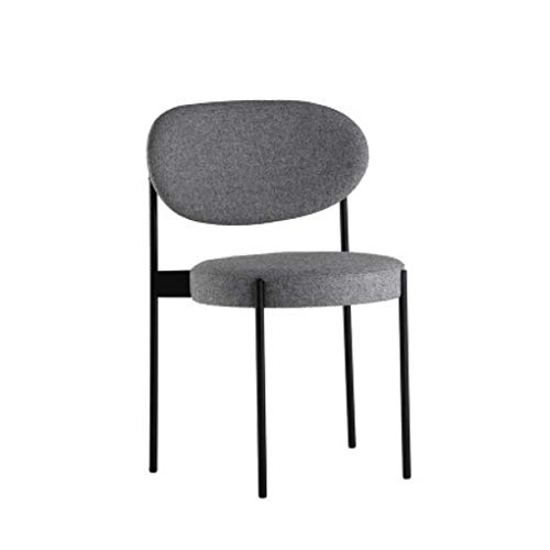 GYL-JL Restaurant Chair Iron Dining Chair Home Leisure Discussion Chair Cafe Bar Chair -1385 (Color : Gray)