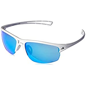 adidas Raylor 2 S Non-Polarized Iridium Oval Sunglasses, Shiny White, 60 mm