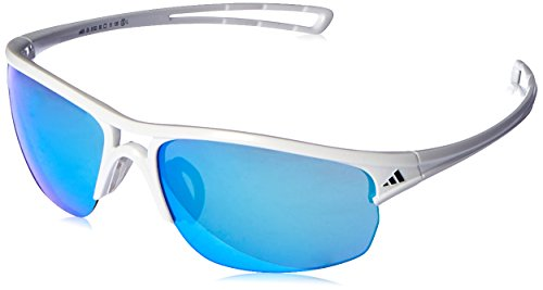 adidas Raylor 2 S Non-Polarized Iridium Oval Sunglasses, Shiny White, 60 (Adidas Sunglasses)