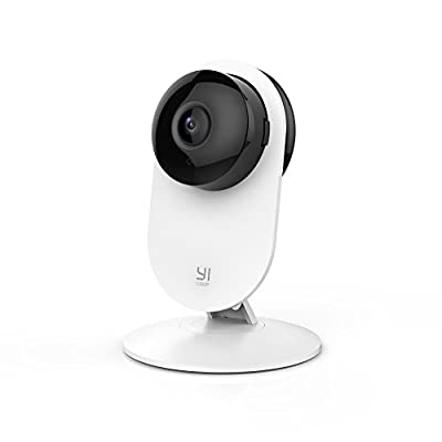 YI 1080p Home Camera, Indoor Wireless IP Security Surveillance System with Night Vision for Home / Office / Baby / Pet Monitor with iOS, Android App - Cloud Service Available