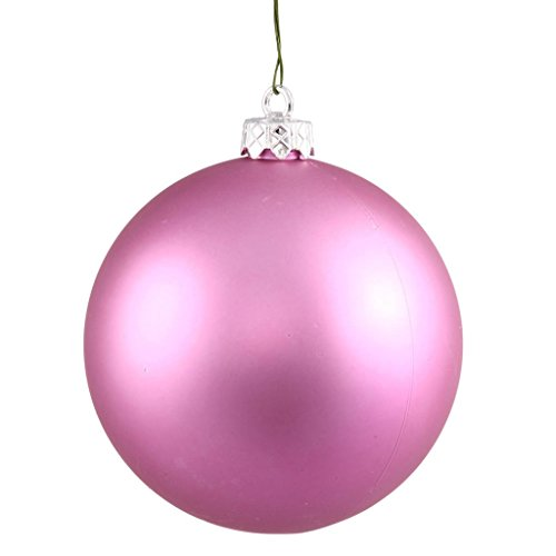 vickerman 34785 275 orchid pink matte ball christmas tree ornament 12 pack n590709dmv