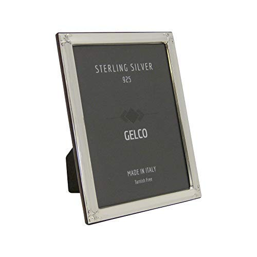 - Gelco Italian 925 Sterling Silver Picture Frame with Floral Chased Corners (8X10)