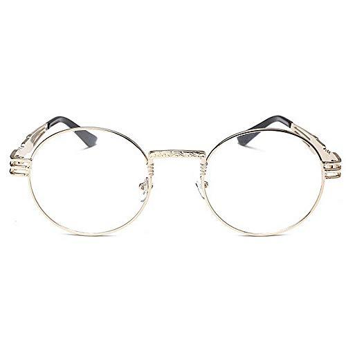 Gafas de Marco Ultra Forma Viento de los Viento Oro Metal Lisas de Gafas Redonda Ligero Gafas exquisitos Gimitunus de de Estilo a Retro Hombres Prueba de Hombre para pequeñas 6qUdwcxFI