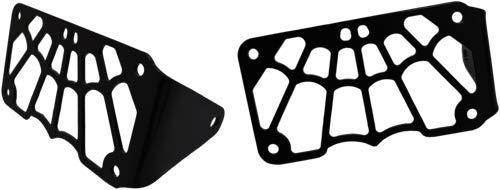 Larosa Design Universal Black Powder Coated Side Mount License Plate Frame Spider Web Style