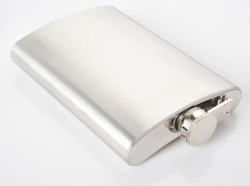 Monumentum Stainless steel flask Silver 9 oz. (270 ml), screw cap, colour: silver (1959 US) by Nomadic Trader