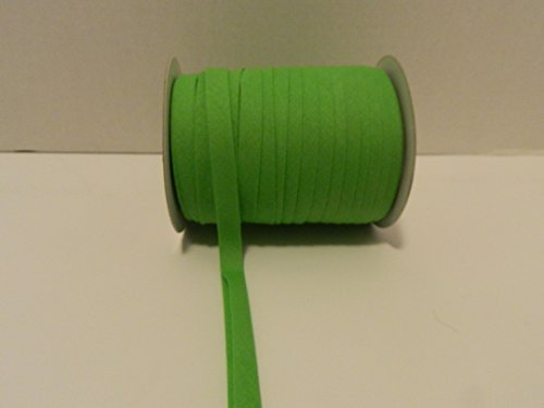 Double Fold Bias Tape 1/2 Inch wide X 50 YARDS - ( Choose Color) - MJs Crafts & More (APPLE GREEN)