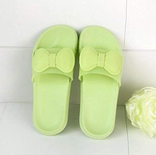 2 Lady Slippers Home Indoor Slippers Ladies Slip Bath Slippers Pink bluee Green Slipper Soild color Personality Bow Quality