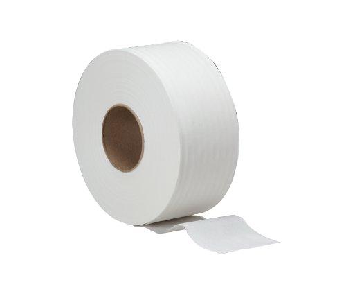 WAXIE 1912 Clean & Soft Junior Jumbo Bath Tissue Roll, White, 2-Ply, (Bath Tissue White 2 Ply)