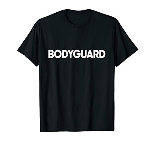 Mens Bodyguard Job Uniform Costume Funny T-Shirt