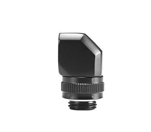 Phanteks 90 Degree Angle Rotary Fitting Adapter G 1/4 Thread Male to Female Rotatable 360 Degree - Black Cooling PH-RA90_BK_G1/4