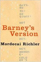 Book Barney's Version by Mordecai Richler (25-Sep-1997)