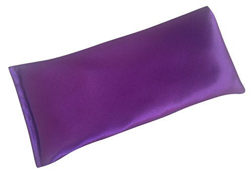 Lavender Eye Pillow- Silky Eye Pillow for Yoga, Meditation and Relaxation. This Eye Mask Is Perfect for Sleeping. Our Pillows Are Made of Lavender Flowers and Organic Flax Seed. Get One for Yourself or As a Gift.