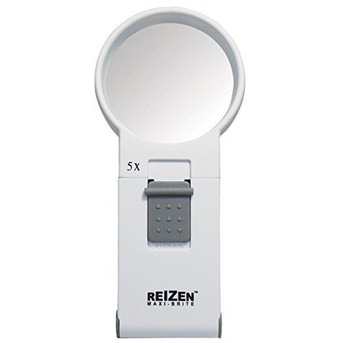 Reizen Maxi-Brite LED Handheld Magnifier - 5X by Reizen