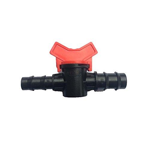 Plastic Reducer - Metalwork Plastic Reducer Ball Valve Hose Barb Connector for Drip Irrigation Hoses, 5/16