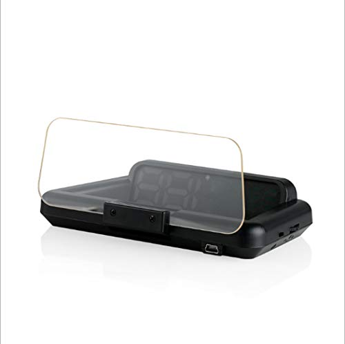 Y&Jack Head-up Display Car Navigation Display Head-up Projector Car Display Universal for All Kinds of Cars,Black
