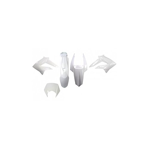 V Parts  –   Kit de 6 carenados para Derbi 50  DRD X-treme Gilera 50  RCR SMT 11-17, color  blanco VPARTS