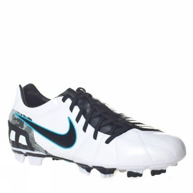 Shoot Fg Mens Soccer Shoe - Nike Total90 Shoot III FG - White/Black-Chlorine