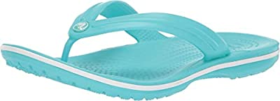 Crocs Unisex Crocband Flip Pool/White 7 Women / 5 Men M US